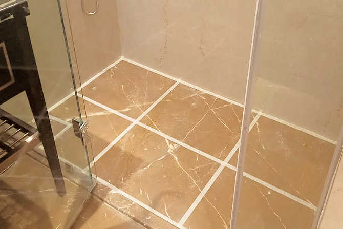 Shower with Slip Protection